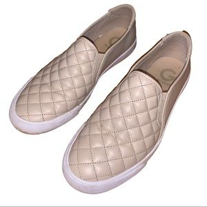 G by Guess Quilted Leather Slip On Sneakers
